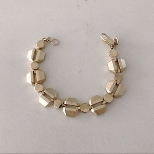 Gently used Madewell geometric gold bracelet